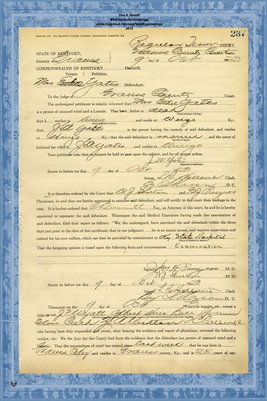1923 State of Kentucky vs. Mrs.Ethel Yates, Graves County, Kentucky