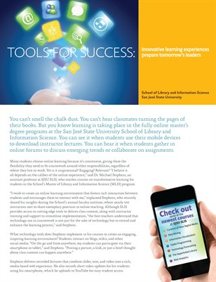 Tools for Success: Innovative learning experiences prepare tomorrow's leaders
