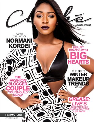 Cliché Magazine - Feb/Mar 2016 (Normani Kordei Cover)