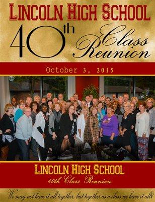 Lincoln High School Class of 1975 - 40th Class Reunion