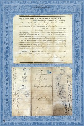 1870 F.C. Evans vs. J.L. Dismuke & George Leath et.al. Graves County, Kentucky
