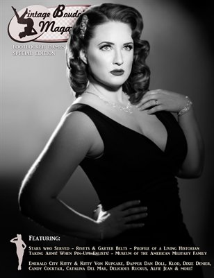 Vintage Boudoir Magazine Footlocker Dames IV Special Edition - Hollywood Glamour Dames with Emerald City Kitty Cover