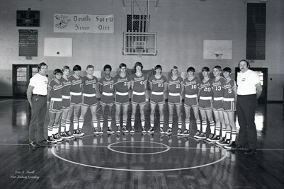 "Oct. 30, 1973 Lowes ""Blue Devils"" High School Boys Basketball team"