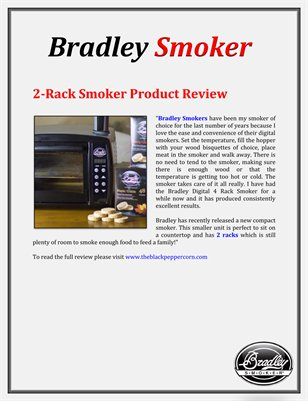 Bradley Smoker: 2-Rack Smoker Product Review