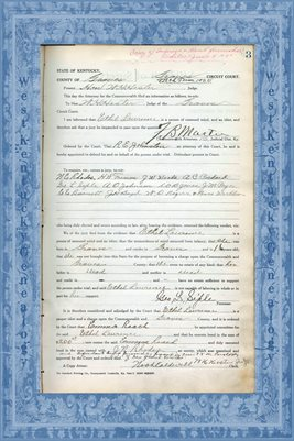 1925 State of Kentucky vs. Ethel Lawrence, Graves County, Kentucky