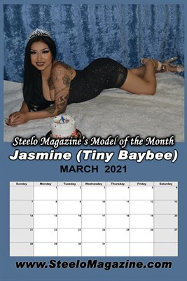 Steelo Magazine - Model of the Month Jasmine Tiny Baybee - March 2021 Poster