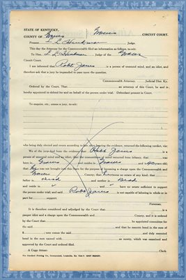 1939 State of Kentucky vs. ROBERT T. JONES, Graves County, Kentucky 2