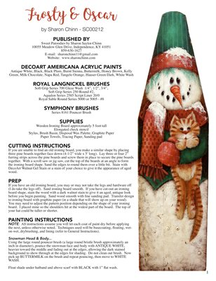 Frosty and Oscar Painting Pattern by Sharon Chinn SC00212