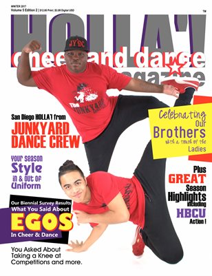 HOLLA'! Cheer and Dance Magazine Winter 2017 Issue