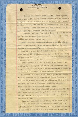 1917 Will of Joshua F. Jones of Gibson County, Tennessee