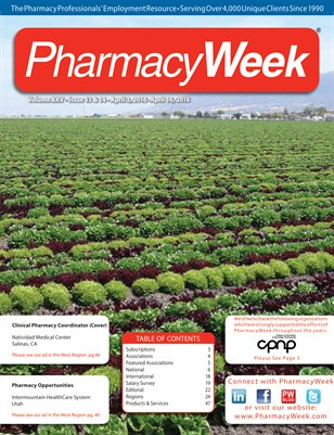 Pharmacy Week, Volume XXV - Issue 13 & 14 - April 3, 2016 - April 16, 2016