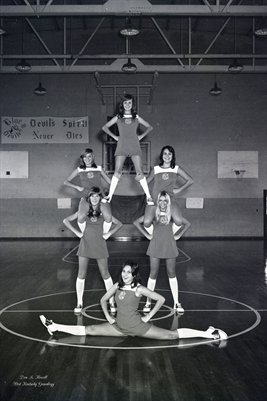 (PHOTO3) OCT. 30 1973 LOWES HIGH SCHOOL CHEERLEADERS