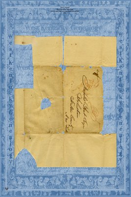1838 Letter, Richard Yost to his father Nicholas Yost Esq. Johnstown, Fulton County, New York