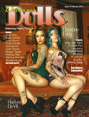 Delicious Dolls 2013 February Issue - Rockwell-Christine Cover