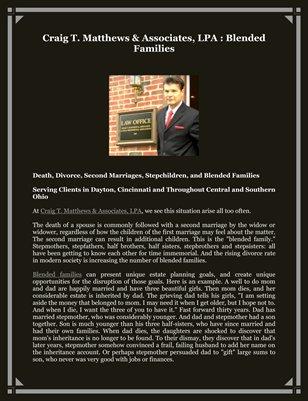 Craig T. Matthews & Associates, LPA : Blended Families