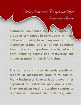 How Insurance Companies Spot Insurance Scams