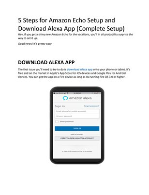 Easy Steps to Download Alexa App and Echo Dot Setup