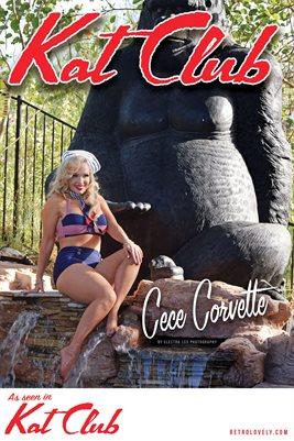 Kat Club No.29 – Cece Corvette Cover Poster