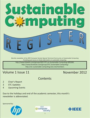 Sustainable Computing Register - November 2012