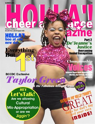 HOLLA'! Cheer and Dance Magazine Summer 2016 Issue