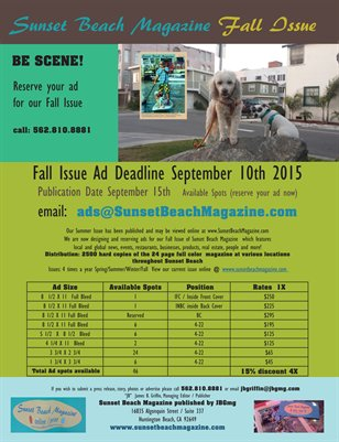 AdRates Sunset Beach Magazine Print / Digital