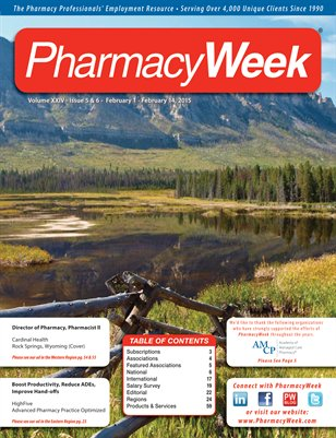 Pharmacy Week, Volume XXIV - Issue 5 & 6 - February 1 - February 14, 2015