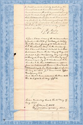 1888 Deed, J.W. Kimbro to Mt. Pleasant School District, Hickman County, Kentucky