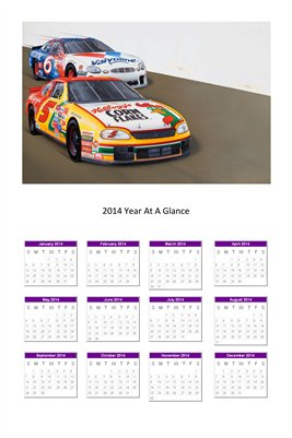 Nascar racing cars 5+6 2014 Year At A Glance