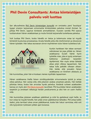 Phil Devin Consultants: Antaa kiinteistöjen palvelu voit luottaa