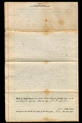 (PAGES 3-4) 1858 WARRANTY DEED JACOB LEEBER TO SILAS P. STICKNEY