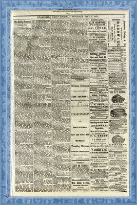 (PAGES 3-4) May 2, 1874 Evansville Daily Journal, Evansville, Indiana
