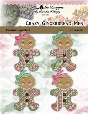 Crazy Gingerbread Men Ornaments Cross Stitch Pattern