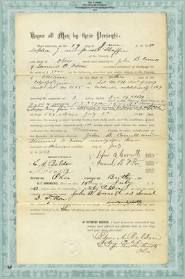 1880 Release of Mortgage, Jacob Shaffer to JohnCornell & Samuel Fitton