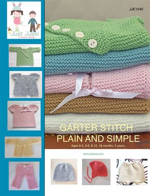 Garter stitch plain and simple