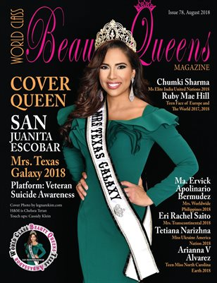 World Class Beauty Queens Magazine Issue 78 with San Juanita Escobar