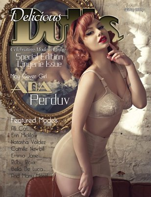 Delicious Dolls May Lingerie Issue Ana Perduv Cover
