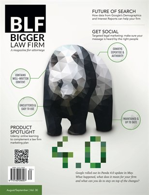 Google Panda 4.0 for Lawyers - August / September 2014