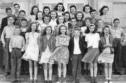 Monroe County, Indiana 1940s school group