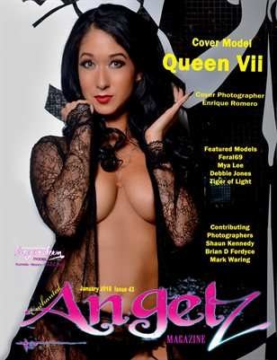 ENCHANTED ANGELZ MAGAZINE - Cover Model Queen Vii - January 2018