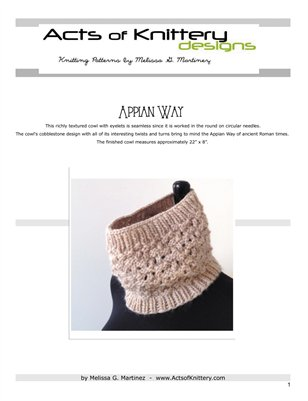 Appian Way Cowl Knitting Pattern