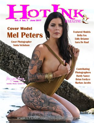 HOT INK MAGAZINE - Cover Model Mel Peters - June 2017