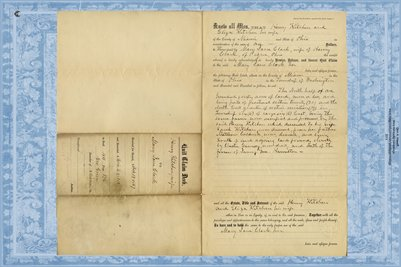 1867 Deed, Kitchen to Clark, Miami County, Ohio