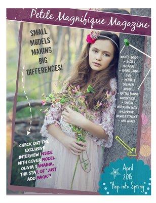 """Petite Magnifique Magazine """"Hop Into Spring"""" April 2015"""