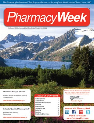 Pharmacy Week, Volume XXIII - Issue 10 - March 9 - March 15, 2014