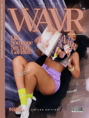 Rihanna 'The RIRI' Sign Here WAVR Mag Special Edition January 20' Cover Issue (Printed Poster)