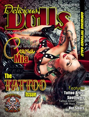 Delicious Dolls November Tattoo Issue - Cara Mia Cover