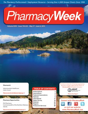 Pharmacy Week, Volume XXIV - Issue 19 & 20 - May 17 - June 6, 2015