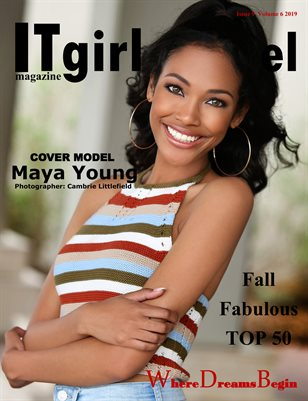 It Girl model magazine Issue 9 Volume 6 2019 Fall Fabulous Top 50