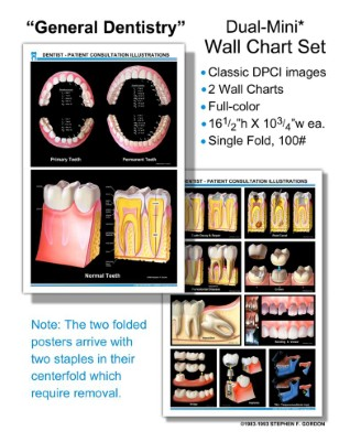 "DPCI ""General Dentistry"" Dual-Mini, 2 Wall Chart Set"