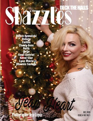 Shazzles Deck The Halls Issue #80 VOL 3 Cover Model Jean Heart